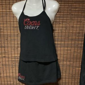Coors Light Halter Top And Skirt